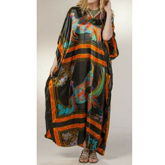 Pheasent Summer Maxi Dress with Sleeves